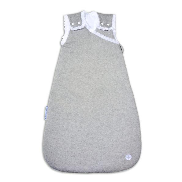 Baby Schlafsack Grau Spitze