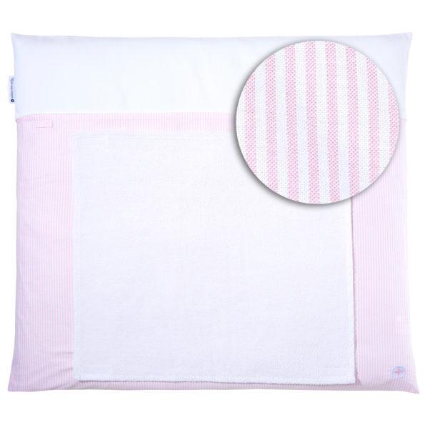 Wickelauflage rosa gestreift 70x80cm wickeltischauflage wickelunterlage rosa