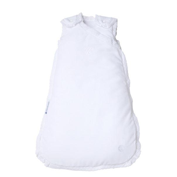 Schlafsack weiß Spitze Baby