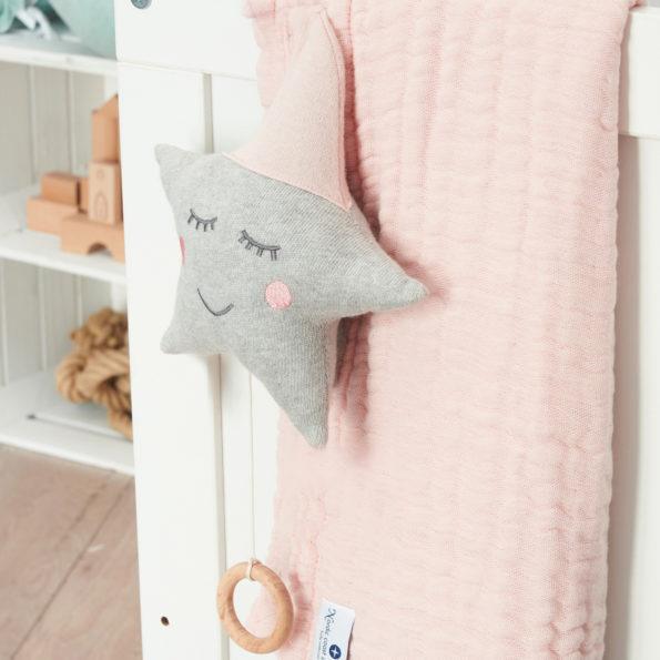 Spieluhr Baby rosa gestrickt Stern