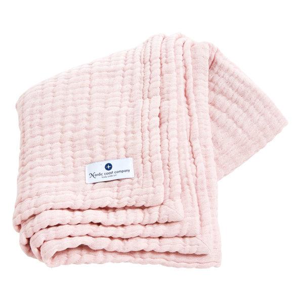 4 in 1 Pink Muslin Baby Blanket
