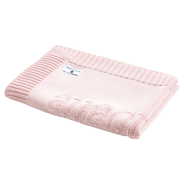 Pink Baby Blanket with name