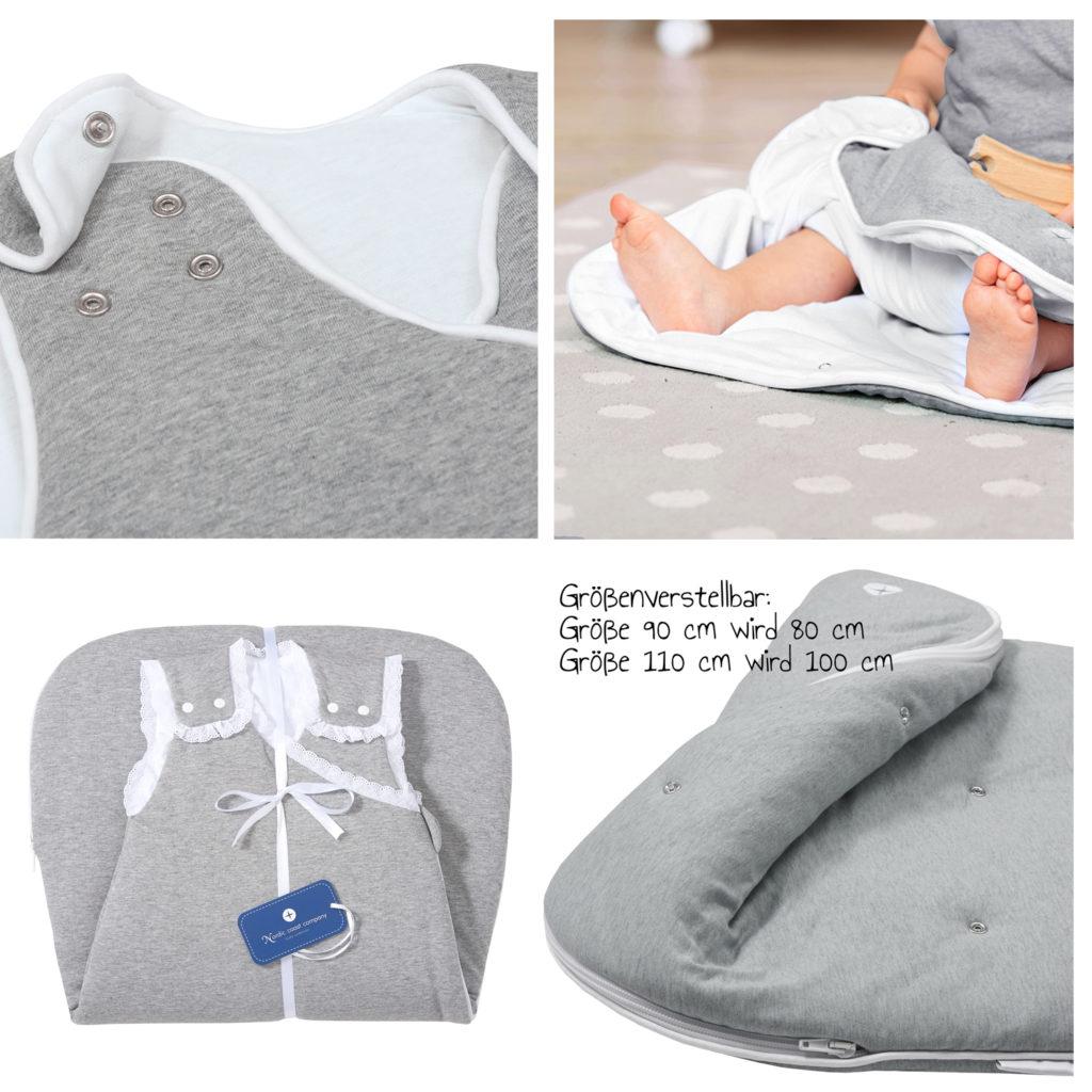 Baby schlafsack grau