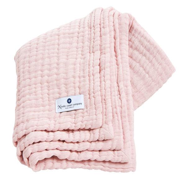 4 in 1 Large, Pink Muslin Baby Blanket