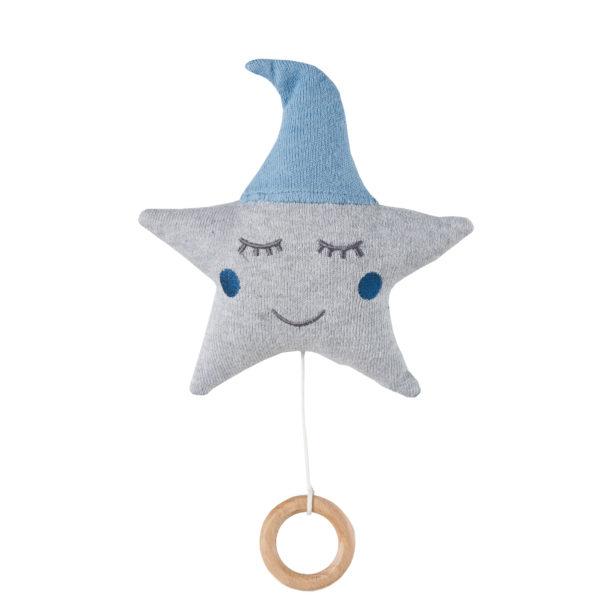 Spieluhr Stern blau baby spieluhr grau