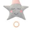 Spieluhr Stern rosa grau Stoff Baby