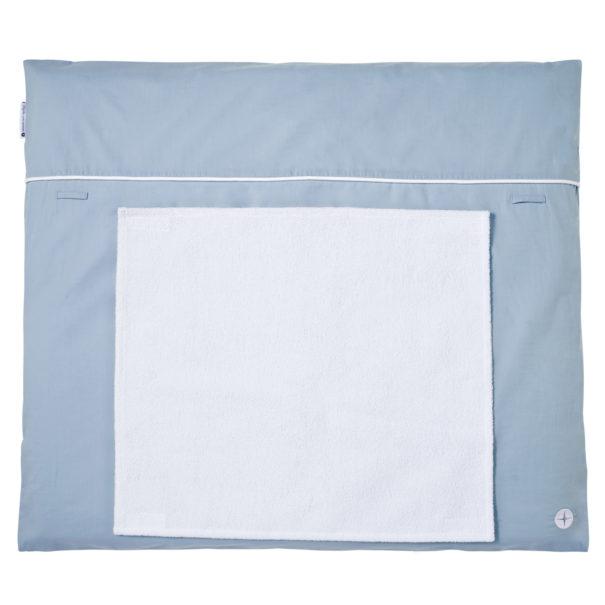 Wickelauflage Blau Grau 70x90