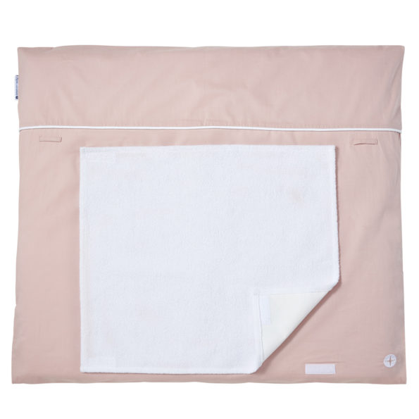 Changing mat old-rose voile towel