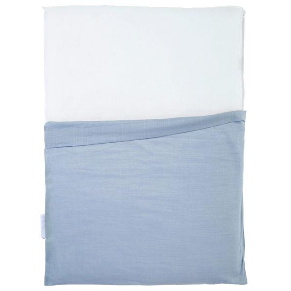 Wickelauflage Blau Grau Bezug schmal