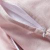 Baby Bettwäsche Leinen Rosa Reißverschluss