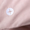Baby Bettwäsche Leinen Rosa Logo