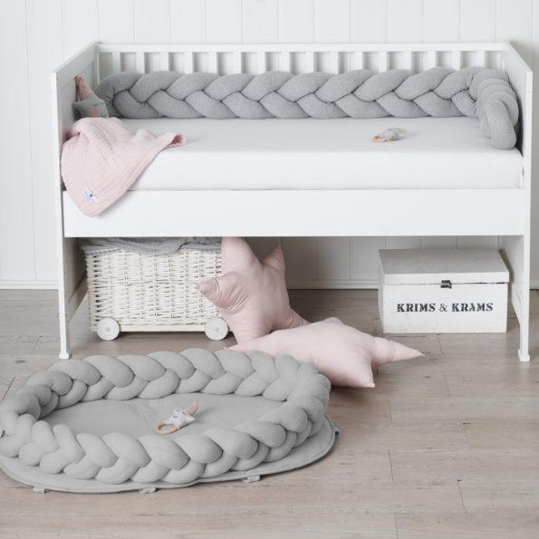 11 Baby Nest geflochten Grau Babyzimmer