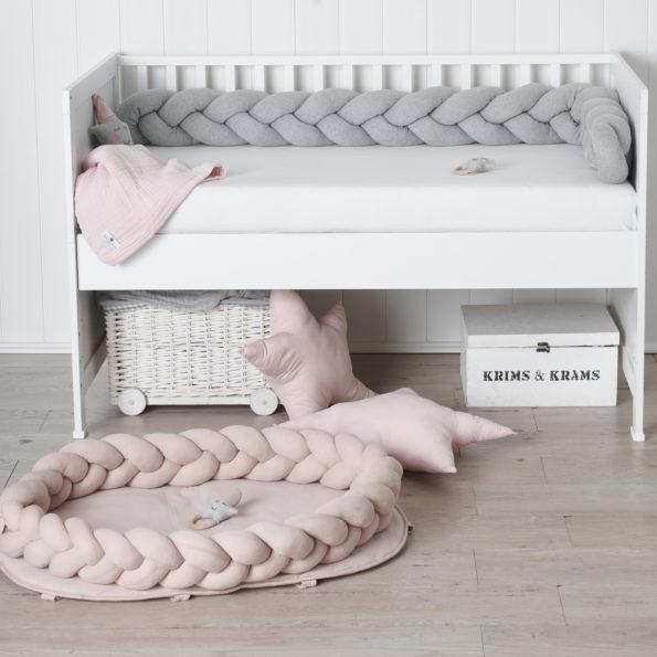 11 Baby Nest geflochten Rosa Babyzimmer