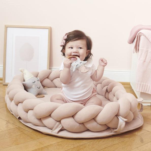 3 Baby Nest geflochten Rosa Kleinkind