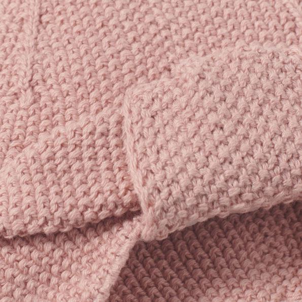 Baby Turban Altrosa Strick Closeup