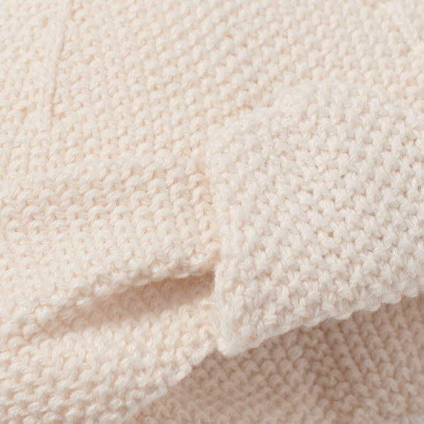 Baby Turban Natur Strick Closeup