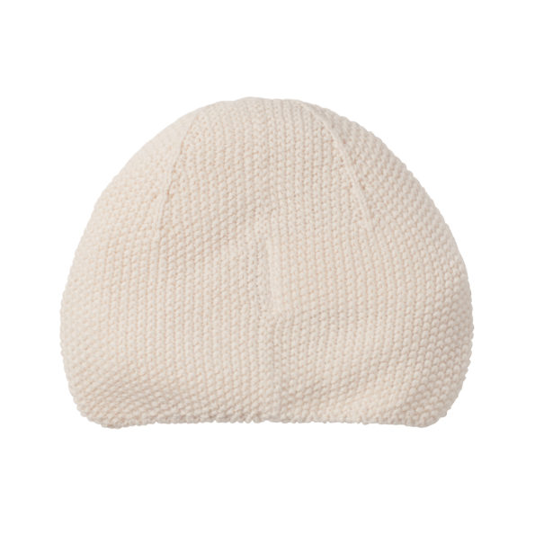 5 Baby Turban Mütze Strick Natur Rückseite
